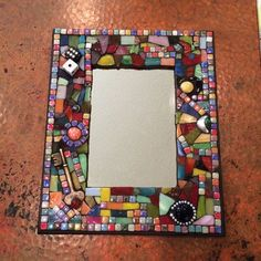 Items similar to Mosaic mirror on Etsy Mosaic Pots, Mosaic Diy, Mosaic Garden, Mosaic Crafts, Mosaic Projects, Mosaic Glass, Mosaic Tiles, Mosaic Furniture, Mosaic Pictures