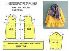 New diy baby girl dress pattern children Ideas Baby Girl Dress Patterns, Dress Sewing Patterns, Clothing Patterns, Crochet Patterns, Sewing For Kids, Baby Sewing, Fashion Kids, Kids Patterns, Little Girl Dresses