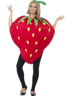 67a179c9a34c Smiffy's Strawberry Costume Strawberry Fancy Dress, Strawberry Costume,  Casa Do Carnaval, Themed Halloween