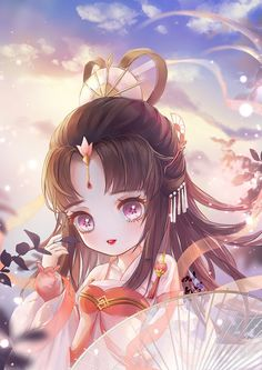 save = flow me (Trinh Nguyễn) Lolis Anime, Cute Anime Chibi, Cute Anime Pics, Kawaii Anime Girl, Anime Naruto, Anime Angel Girl, Anime Art Girl, Pretty Anime Girl, Chibi Girl