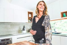 Baby Dink baby carrier pulls on like a t-shirt – no clips, no buckles, no wrapping, no fuss for newborns up to the age of 4 months. Baby Carrier Newborn, Baby Wrap Carrier, Newborn Photos, Baby Photos, Baby Hospital Photos, Lactation Consultant, Newborn Essentials, After Baby, Baby Wearing