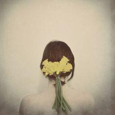 Flowers in her Hair Art Print by elle moss | Society6