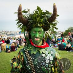 #portrait365 no.125  a personal project to photograph a different person each day of 2014 with my Fuji x100s.  Please visit www.craigprentis.... to see the rest. Jack in the Green Festival, Hastings.
