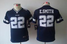 Youth Dallas Cowboys #22 Emmitt Smith Blue Jersey