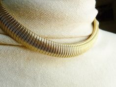 Vintage Gold Choker Necklace - Sarah Coventry