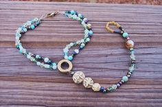 Barefoot Sandal Turquoise Beaded Anklet by BadGirlForeverJewels, $13.99