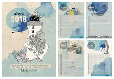 Sonderformate - DIN A 3 Familienkalender 2018  - ein Designerstück von Hellicopter bei DaWanda
