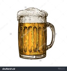 Find Beer Glass Mug Foam Hand Drawn stock images in HD and millions of other royalty-free stock photos, illustrations and vectors in the Shutterstock collection. Mug Drawing, Food Drawing, Pint Of Beer, Wine And Beer, Custom Wall Murals, Tattoo Design Drawings, Old Tattoos, Beer Brands, Fine Line Tattoos