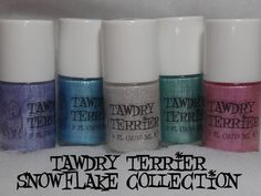 @Tawdry Terrier Snowflake collection - coming soon at http://www.etsy.com/shop/TawdryTerrier!  #nailpolish #indienailpolish #tawdryterrier