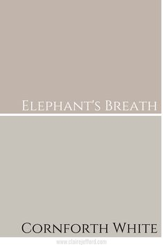 colour inspiration Elephants Breath by Farrow and Ball Isnt this Farrow and Ball paint colour gorgeous? Lets dive in to find out more about it and if its the right hue for you. Cornforth White Hallway, Cornforth White Farrow And Ball, Cornforth White Living Room, Farrow Ball, Farrow And Ball Paint, Hallway Paint, Grey Hallway, Interior Wall Colors, Bedroom Wall Colors