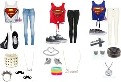 """Superman"" by carolinee16 on Polyvore"