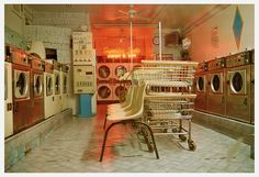 Something bout laundromats looks so cool in photos. Retro Aesthetic, Spring Day, Looks Cool, Vaporwave, Small Towns, Concept Art, Retro Vintage, Decoration, Design