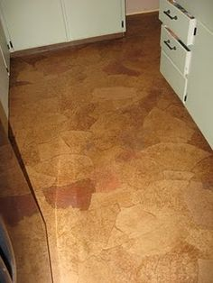 DIY Paper Bag Flooring - yes, that's right.flooring from paper bags and polyurethane. This is amazing and it came out so pretty!