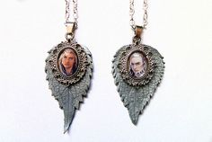 Set of two necklaces  King of Mirkwood elven pendants by JankaLart