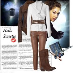 """I'm not a skinny jeans fan, but I would totally wear them for this outfit.  """"River Song"""" by tasteofglitter on Polyvore"""