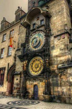 Prague's astronomical clock, Czech Republic