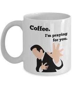 Coffee craver Coffee Pastor I'm praying for you Sarcastic mug Atheist Evangelist Funny christian gift Religious coffee mug Coffee addict Wry