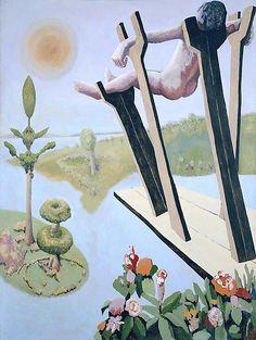"Benny Andrews (1930-2006) ""Cradle"" 1967, oil on canvas @ Michael Rosenfeld Art"