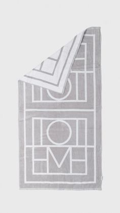 Totême Biarritz Beach Towel in Drizzle Grey | The Dreslyn