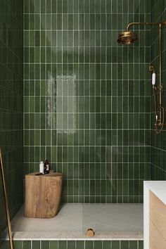 """Saratoga features a 2.5""""x8"""" zellige-inspired subway tile in six glossy, soft colors that add color and brightness to any interior space. Bathroom Design Inspiration, Bathroom Interior Design, Tiles Direct, Bathroom Trends, Ceramic Wall Tiles, Color Tile, Beautiful Space, Tile Design, Shades Of Green"""
