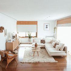 stay home living room inspo Living Room Lighting, Rugs In Living Room, Home And Living, Living Room Designs, Living Room Decor, White Couch Living Room, Neutral Living Rooms, Dining Room, White Couch Decor