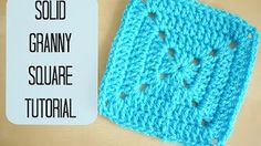 How To Crochet a Granny Square - Beginners Tutorial & Basic Pattern - YouTube