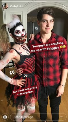 Colby Brock and Giggles the clown Colby Brock, Sam And Colby, Future Boyfriend, Future Husband, Hot Emo Boys, Colby Cheese, Sam Pottorff, Jack And Mark, Best Duos