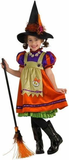 Halloween Concepts Child's Orange Witch Girl Costume