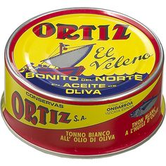 ORTIZ Tuna in Olive Oil 190 g. Fish #preserves from #Spain http://spanishfood7.weebly.com/fish-preserves.html#