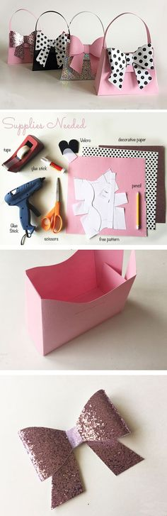 Paper Purses | Click Pic for 17 DIY Birthday Party Favors for Girls | Handmade Baby Shower Favors to Make Girl