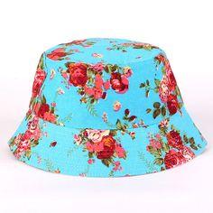2017 Fashion New 1 Pc Fisherman Casual Bucket Hat Cap Summer Hats for Girls Women Flower Sun Protection Bucket Hat Panama Women