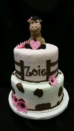 Birthday cake perfect for the horse-loving little girl!