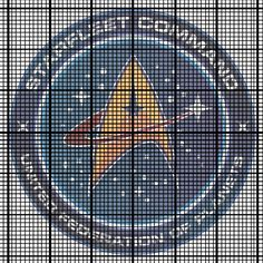 Starfleet Command badge (Star Trek) cross stitch