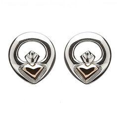 Irish Claddagh Stud Earrings | Irish Jewelry