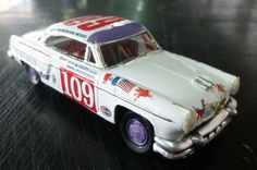 V CARRERA PANAMERICANA,LINCOLN TEAM CAR,#109,LINCOLN CAPRI 1/43,JACK McGRATH-M.A #Handmade #LincolnCapri