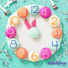 New Year's Eve Countdown Cupcakes: The movable cookie hands on this New Year's clock mark the minutes until midnight -- or the last bedtime of 2014.