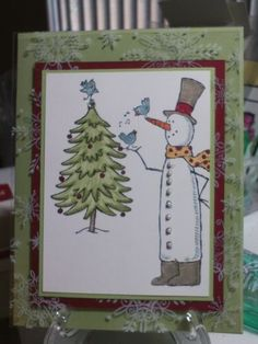 Stampin Up Snow Much Fun Christmas Greeting Card