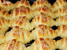 Serbian Recipes, Greek Recipes, Sausage Roll Pastry, Kiflice Recipe, Greek Pastries, Pancakes And Waffles, Sweet Breakfast, Brunch Recipes, Food Hacks
