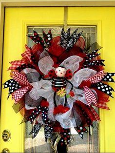 Summer Wreath 12  SKU 31642 by CarolinaWreathsInc on Etsy, $79.00