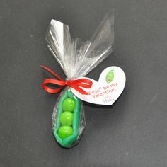 """""""Peas"""" I like the concept of peas in a pod, minus the ingredients these were made with.  Cute idea for a baby shower"""