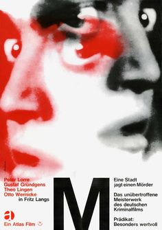 M, Poster by Wolfgang Schmidt 1966
