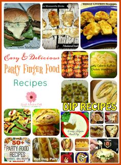Lots of delicious and easy to make party finger food recipes for your party.