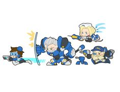 They are so cuteeeee Overwatch Tracer, Overwatch Comic, Overwatch Video Game, Overwatch Memes, Overwatch Drawings, Character Concept, Character Art, Heroes Of The Storm, Kawaii