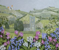 Batcombe Church - oil on card | Vanessa Bowman Art