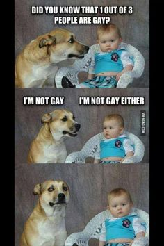 Did you know that 1 out of 3 people are gay meme - http://www.jokideo.com/