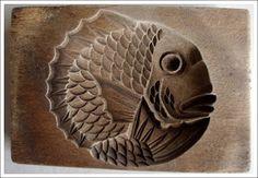 Japanese Kashigata or Kigata Antique & Vintage Hand Carved Wood Hagashi Sweets Molds Hand Made by Craftsmen, c.1900