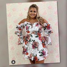 """80aeb7c6d Moda de Mulher Plus Size🥇 on Instagram  """"temos esse vestido lindo em duas  cores rosa tamanho 44 e 46 branco tamanho 46"""