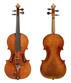 An Amati violin from around 1650. In developing his own style, Nicolò created instruments with a bolder appearance, yet never lacking the family's hallmark elegance and finesse