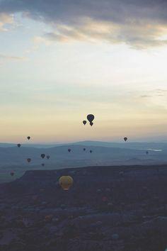Gently floating above the fairy land of Cappadocia Fairy Land, Hot Air Balloon, Adventure Travel, Storytelling, Balloons, Turkey, Magazine, Sunset, Outdoor