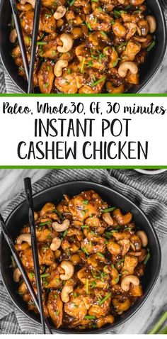This instant pot cashew chicken tastes like the familiar Chinese takeout. - Chicken + Meat RecipesThis instant pot cashew chicken tastes like the familiar Chinese takeout we all love, but in a better-for-you, Paleo, gluten Instant Pot Pressure Cooker, Pressure Cooker Recipes, Pressure Cooking, Healthy Diet Recipes, Whole Food Recipes, Paleo Diet, Paleo Food, Eating Paleo, Instapot Recipes Paleo